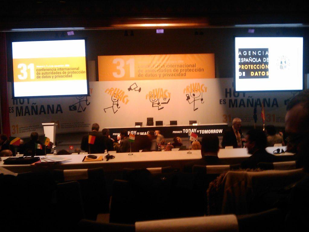 Sesión 31 Conferencia Internacional Privacidad 2009