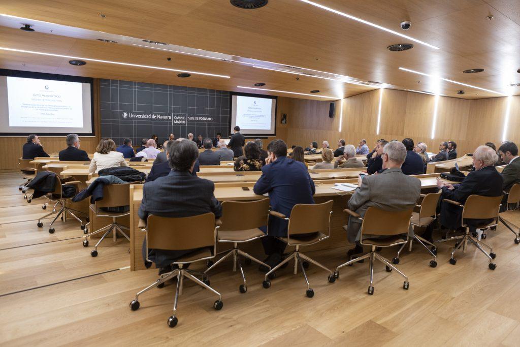 Acto de Defensa de Tesis Doctoral de Efrén Díaz Díaz en el Campus de Madrid de la Universidad de Navarra